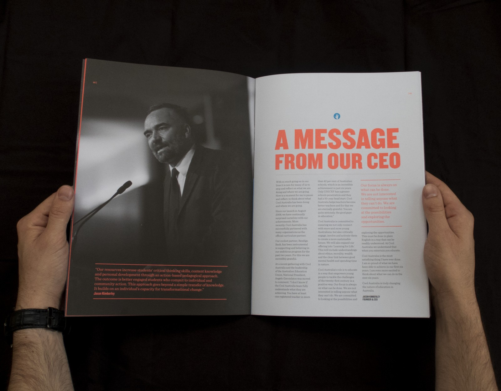 Cool Australia 2014 annual report message from ceo