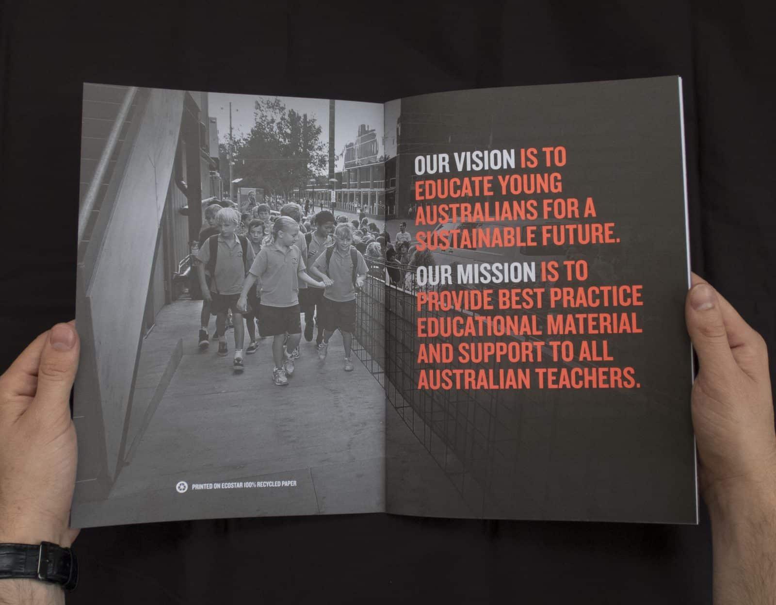 Cool Australia 2014 annual report inside spread