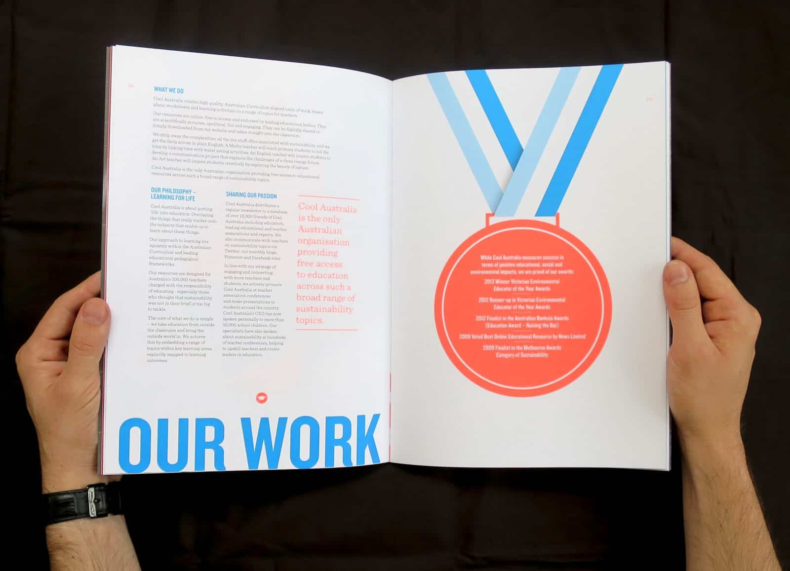 Cool Australia 2014 annual report cover our work