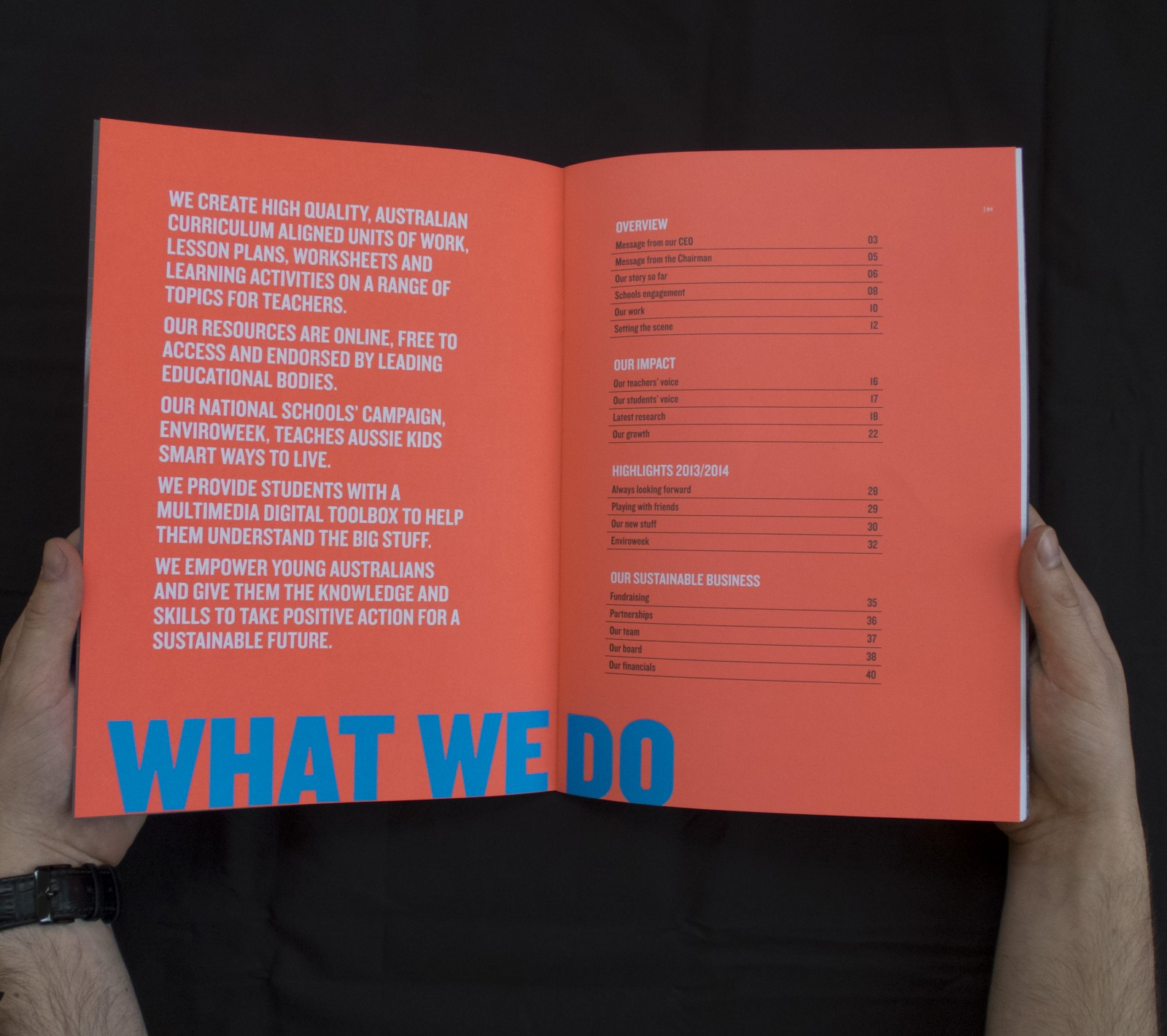 Cool Australia 2014 annual report table of contents