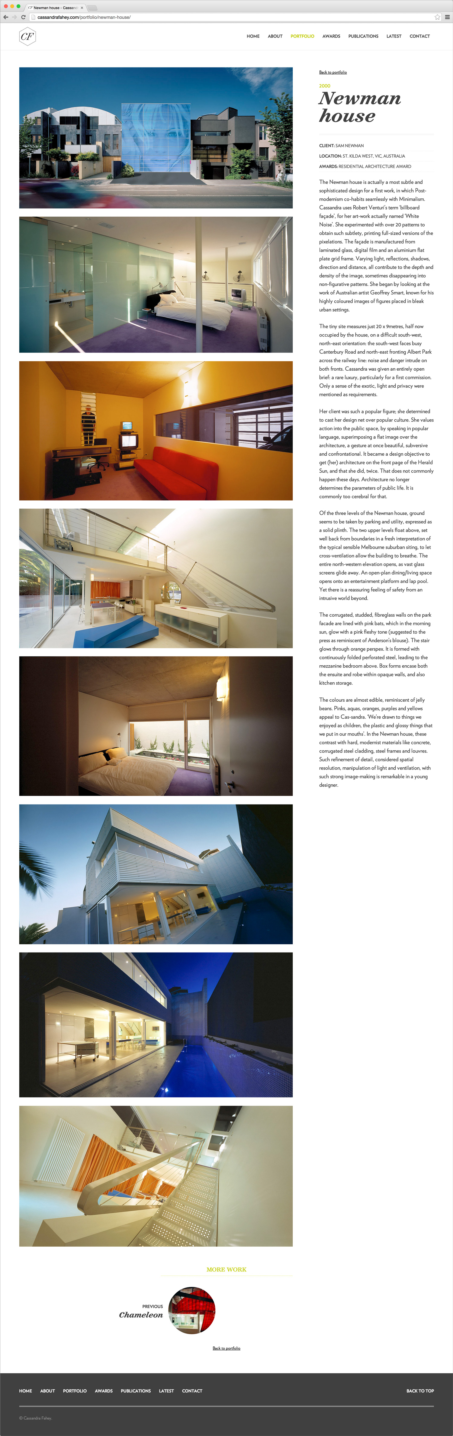 Newman House portfolio page