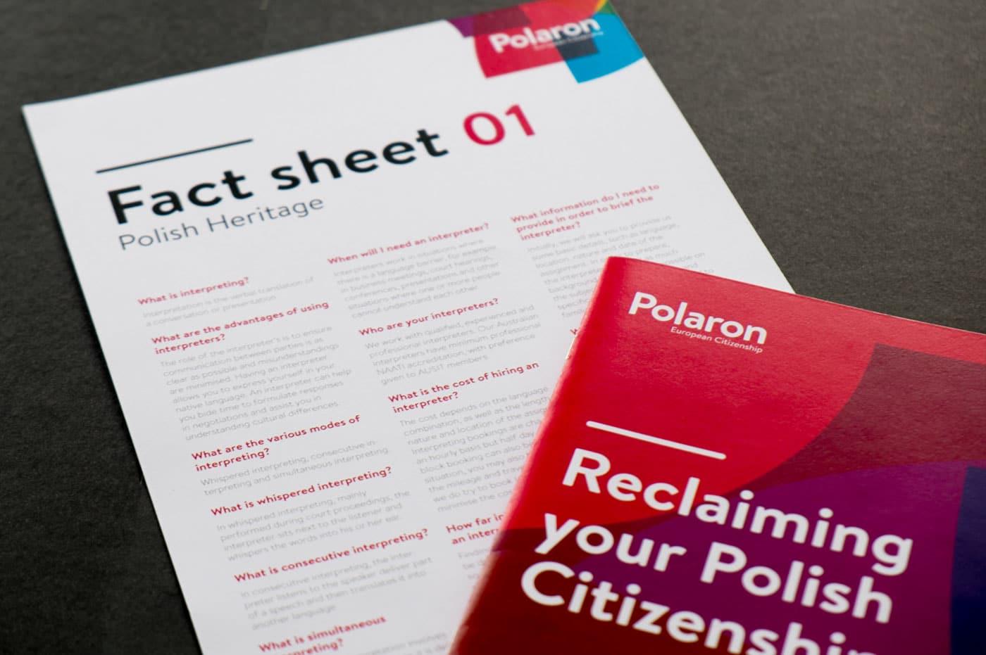 Polaron fact sheet and booklet