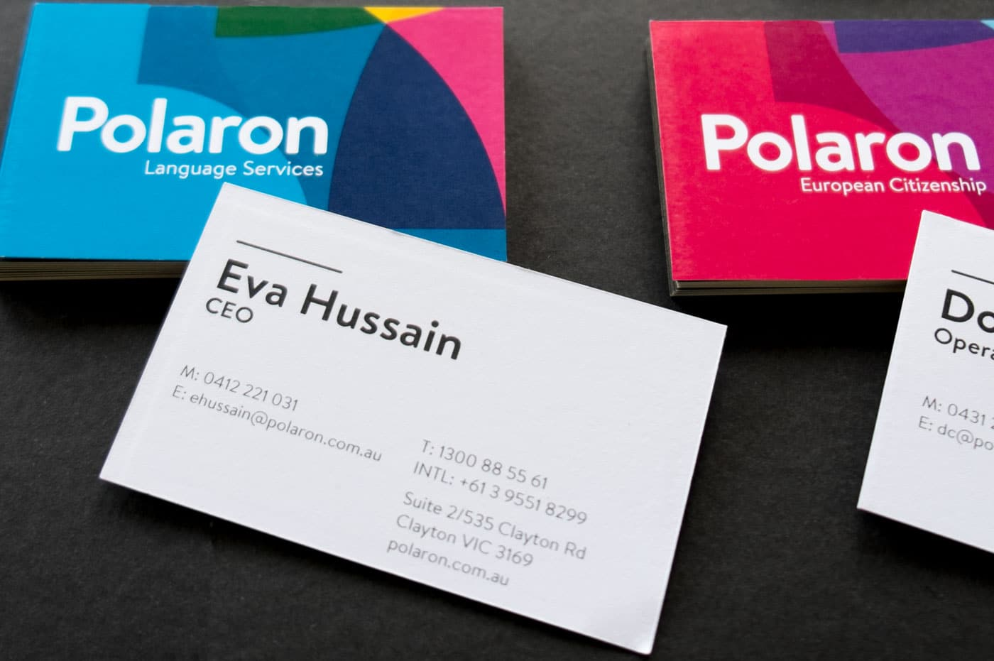Polaron business cards