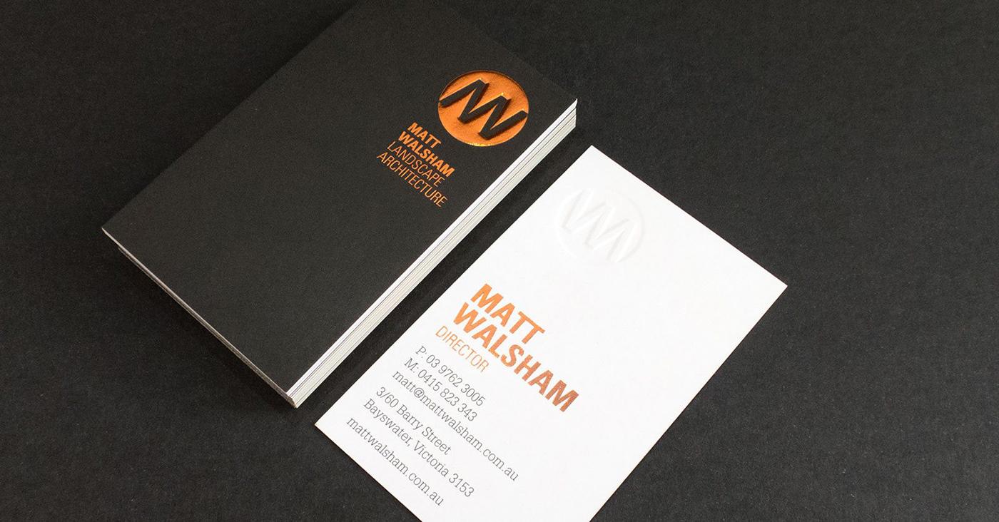 Matt Walsham Landscape Architecture business cards