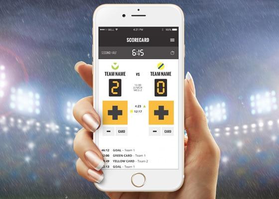 Umpy app design shown on mobile phones