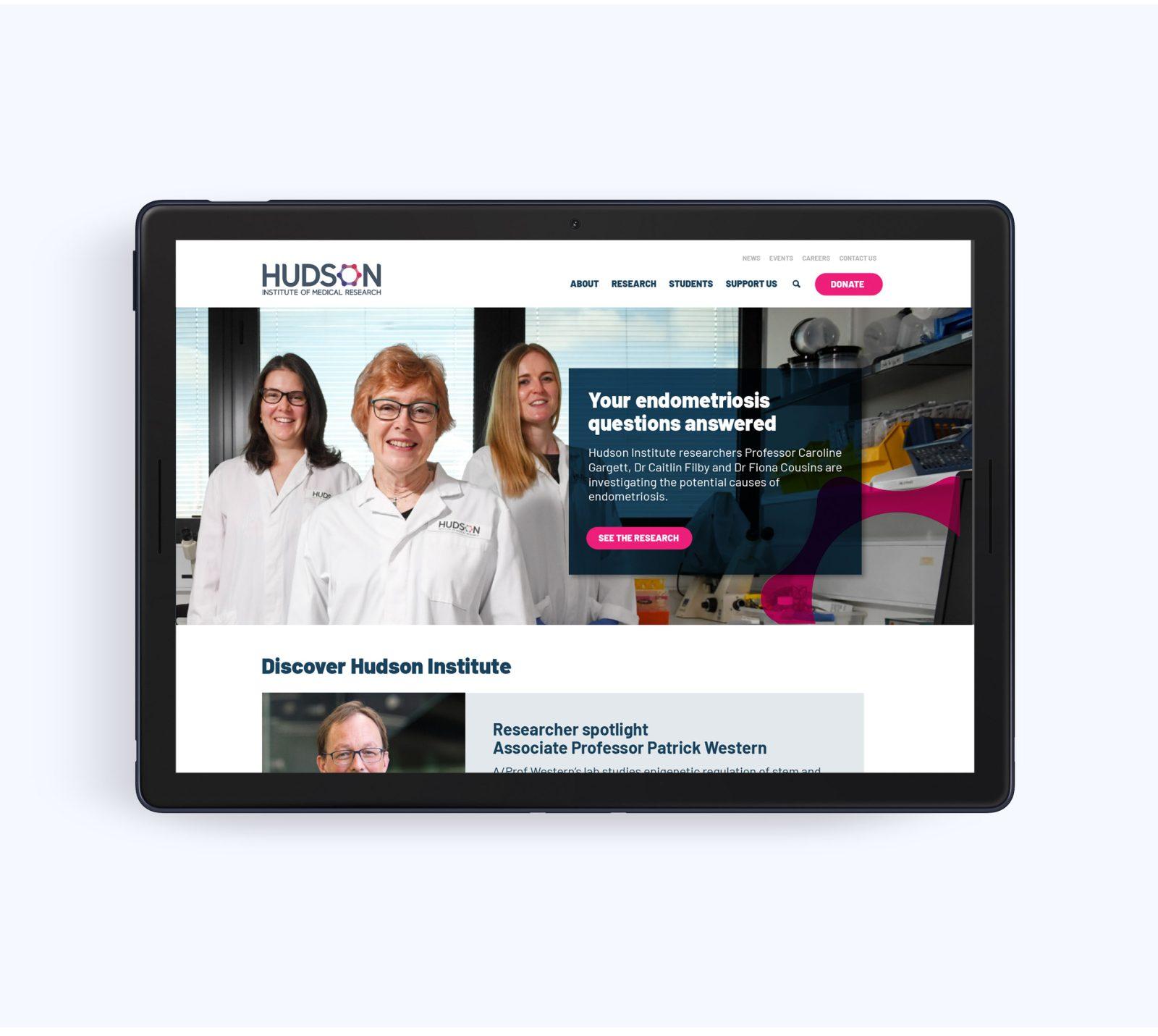 Hudson Institute website on ipad