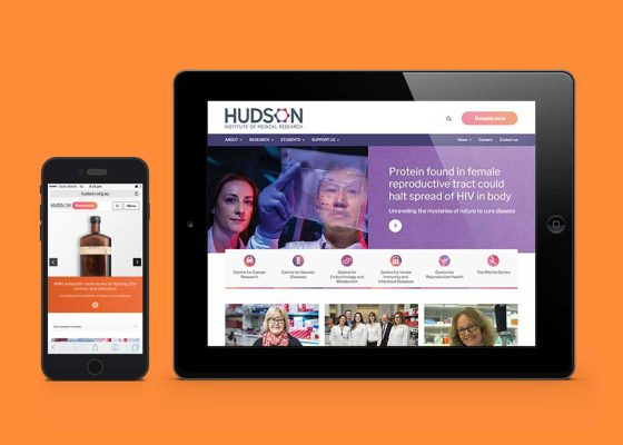 Hudson Institue website on mobile and ipad