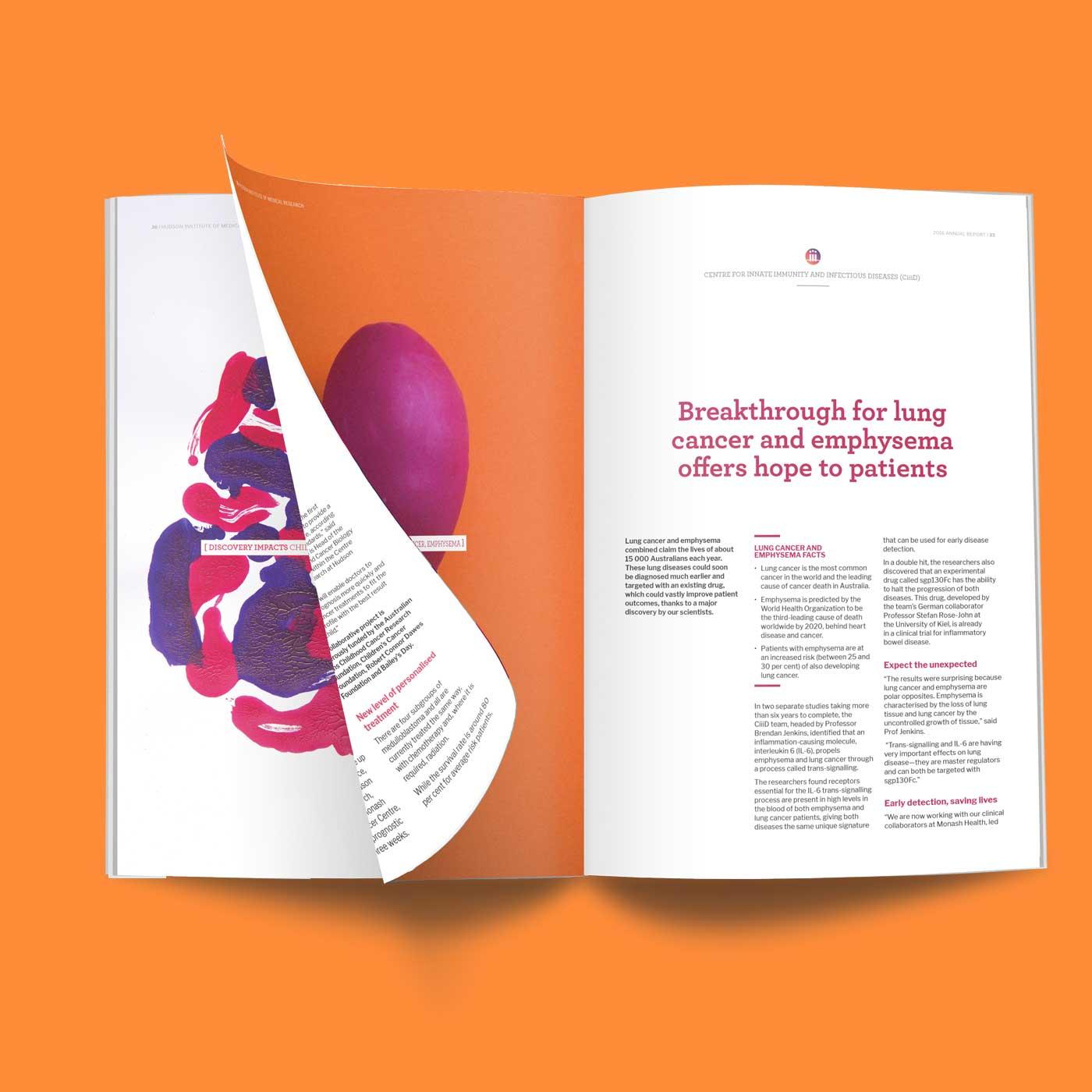 Hudson annual report inside spread