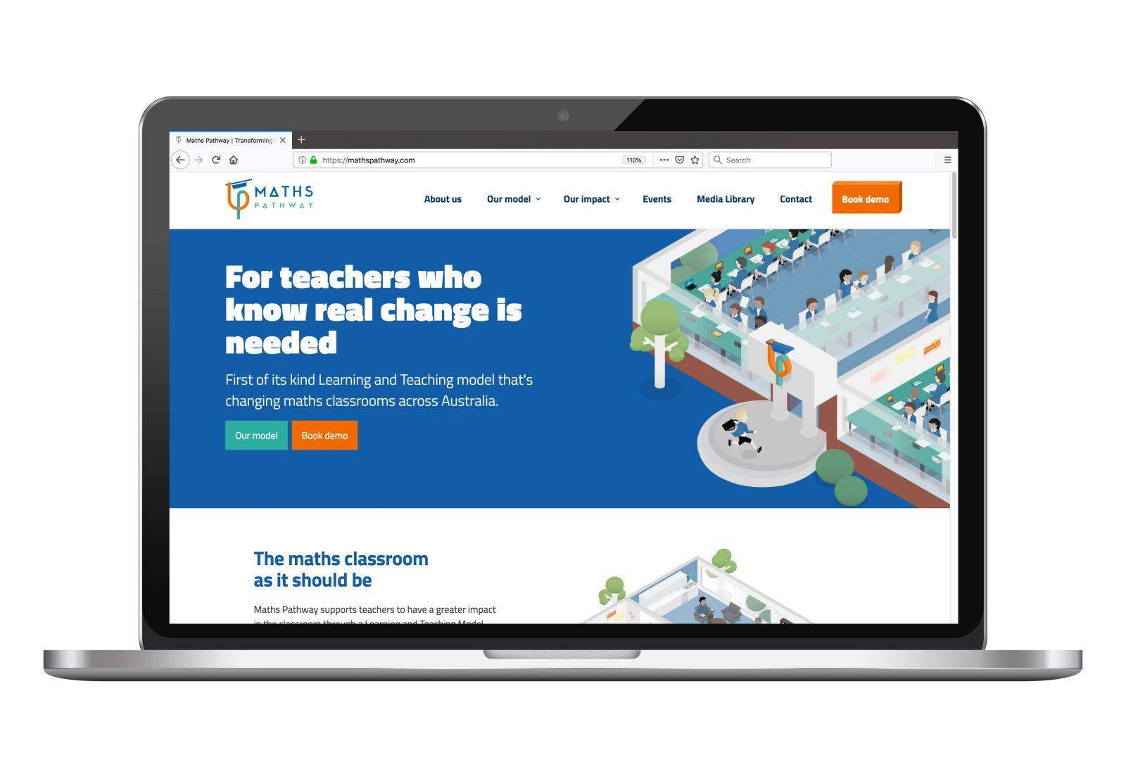 Maths Pathway homepage on desktop