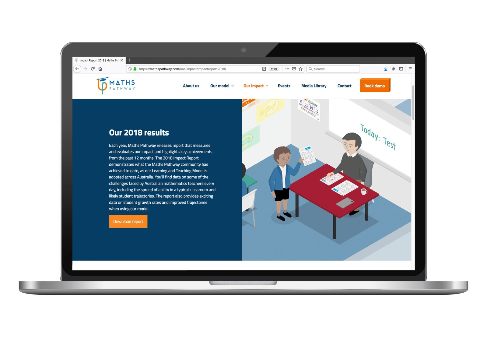 Maths Pathway website on desktop