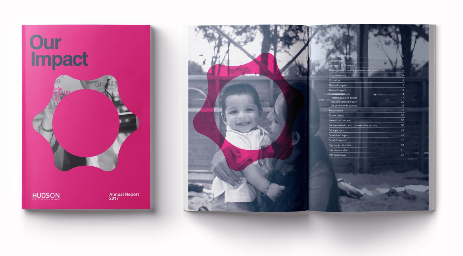 Hudson Institure annual report cover