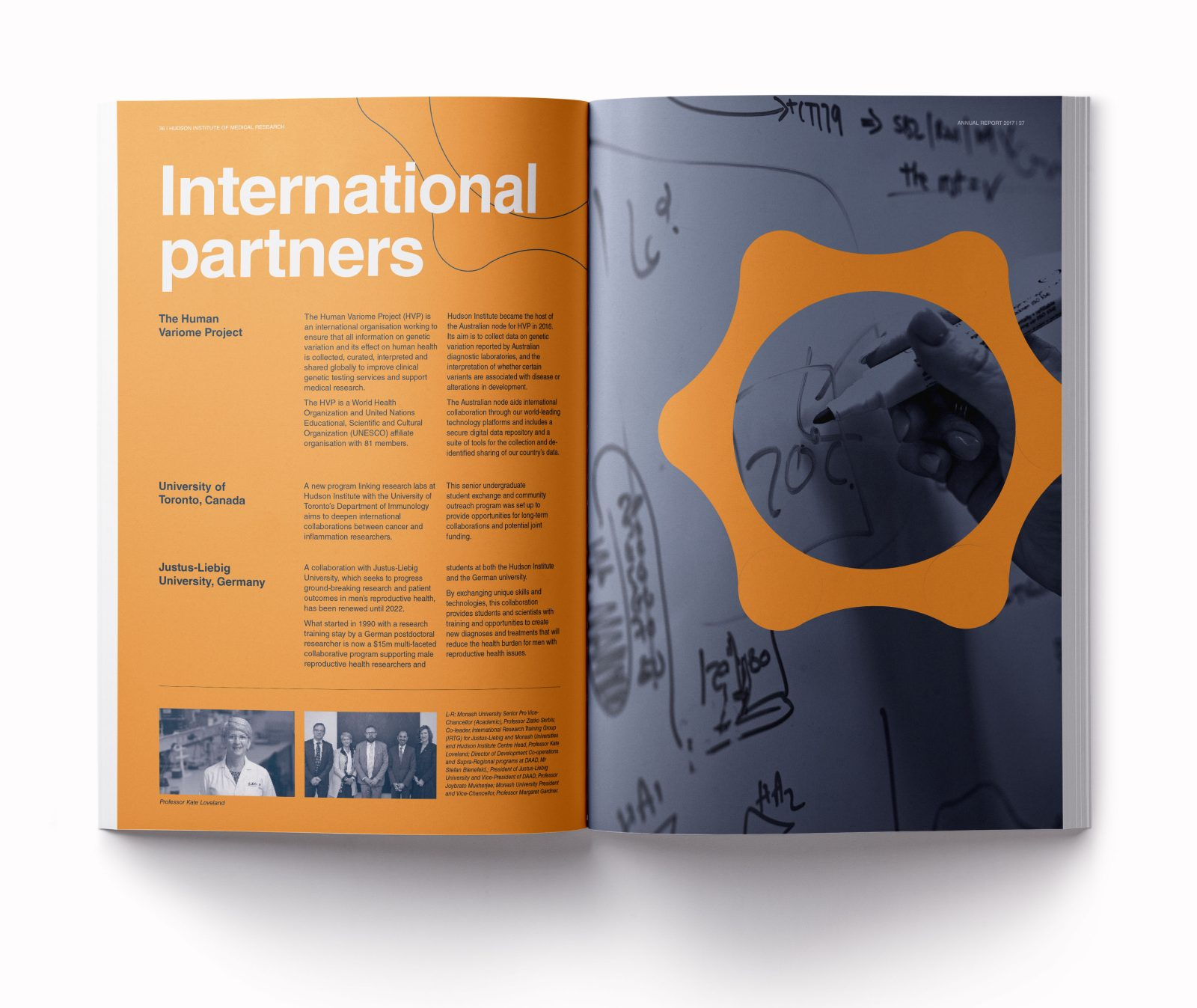 Hudson Institure annual report international partners spread