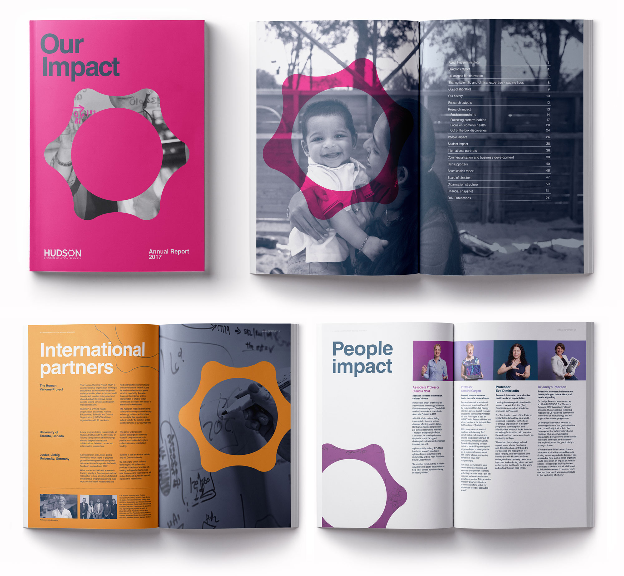 Hudson's 2017 annual report with updated brand