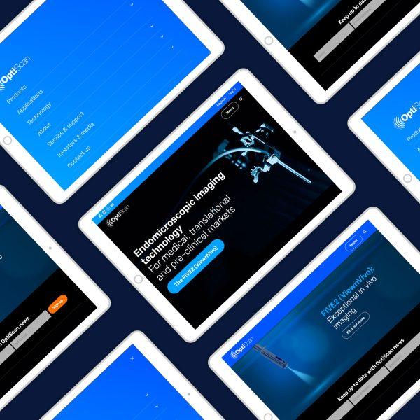 ipads showing Optiscan website