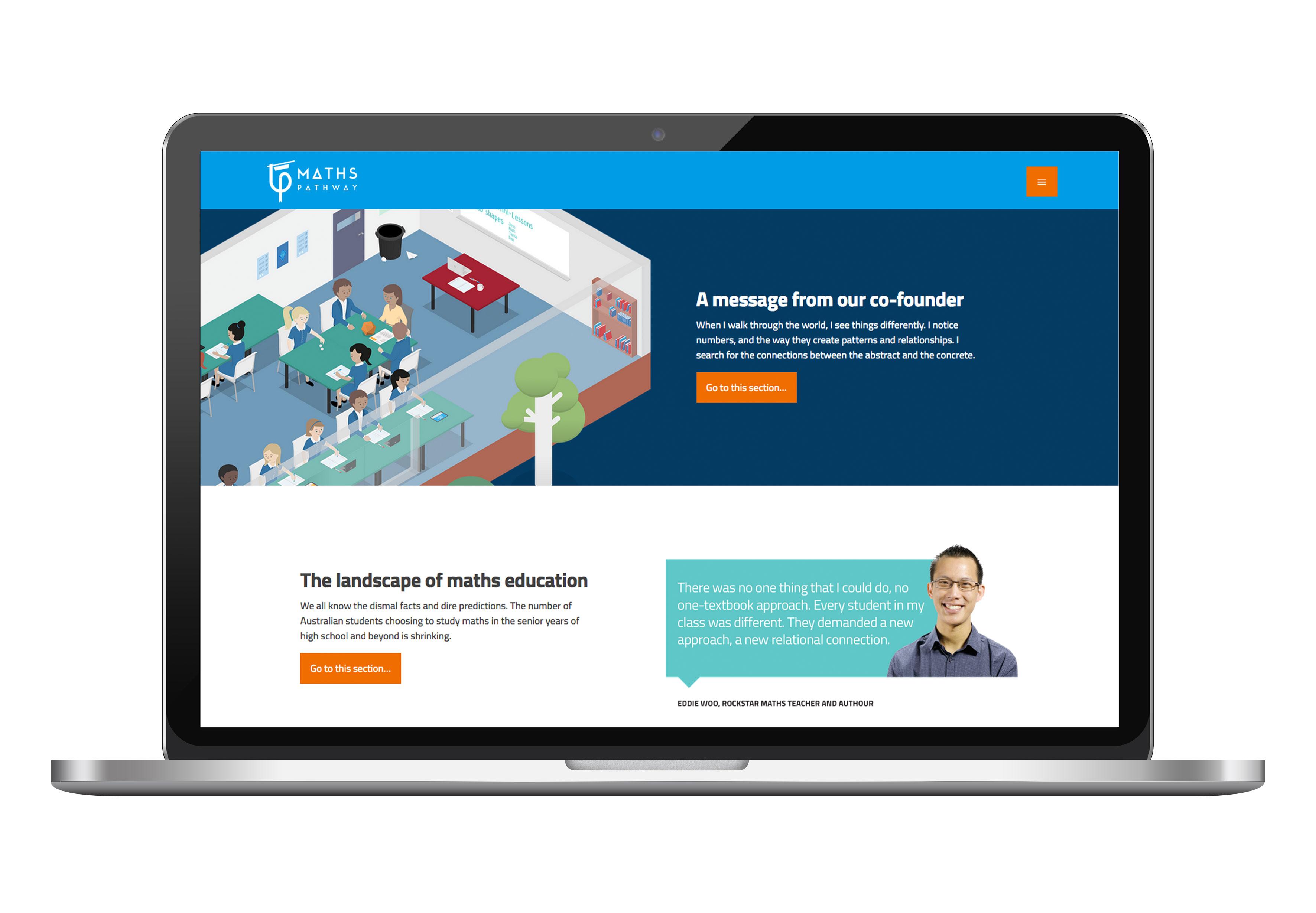 Maths Pathway website shown on desktop