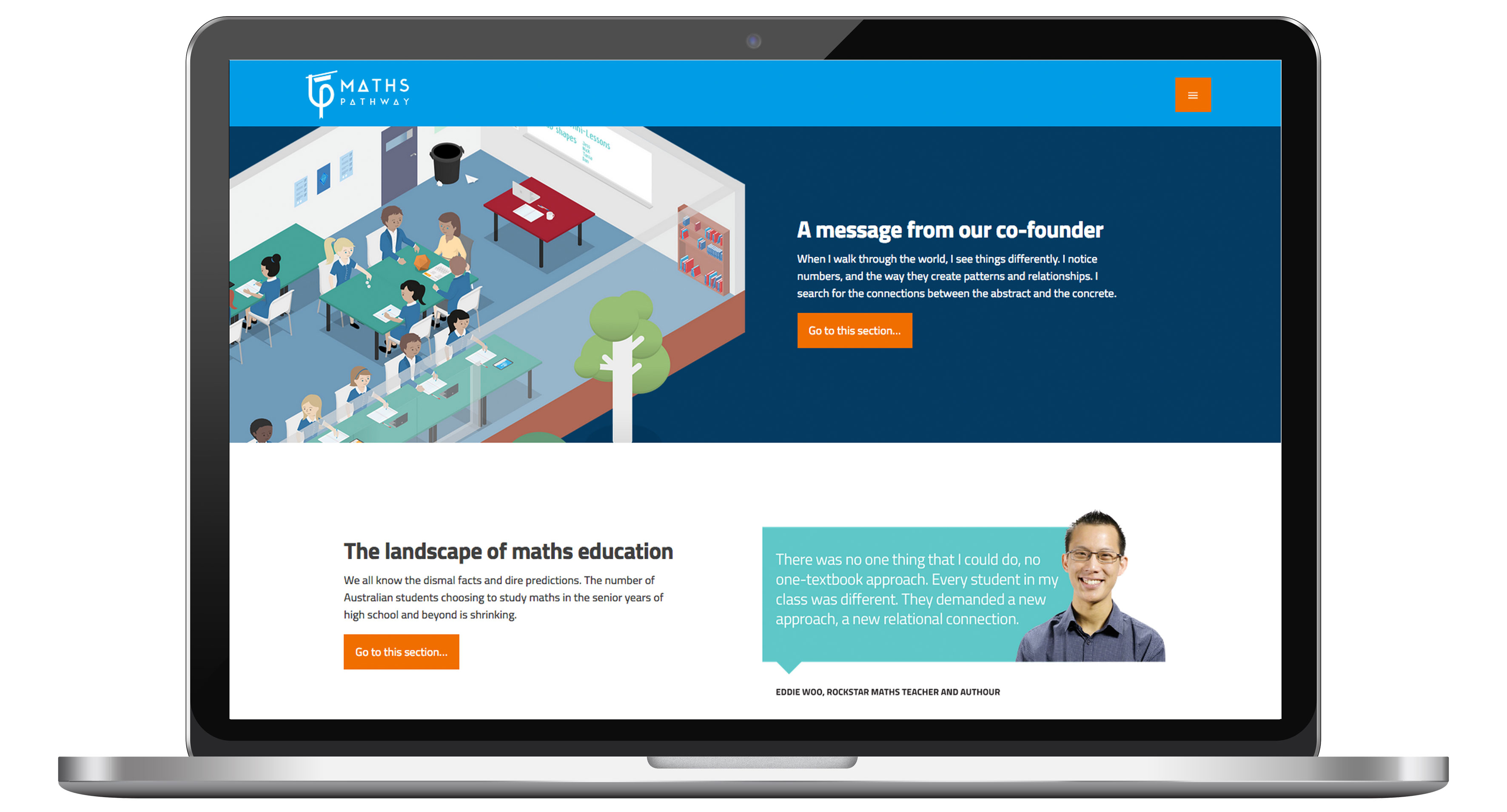Website design of Maths Pathway