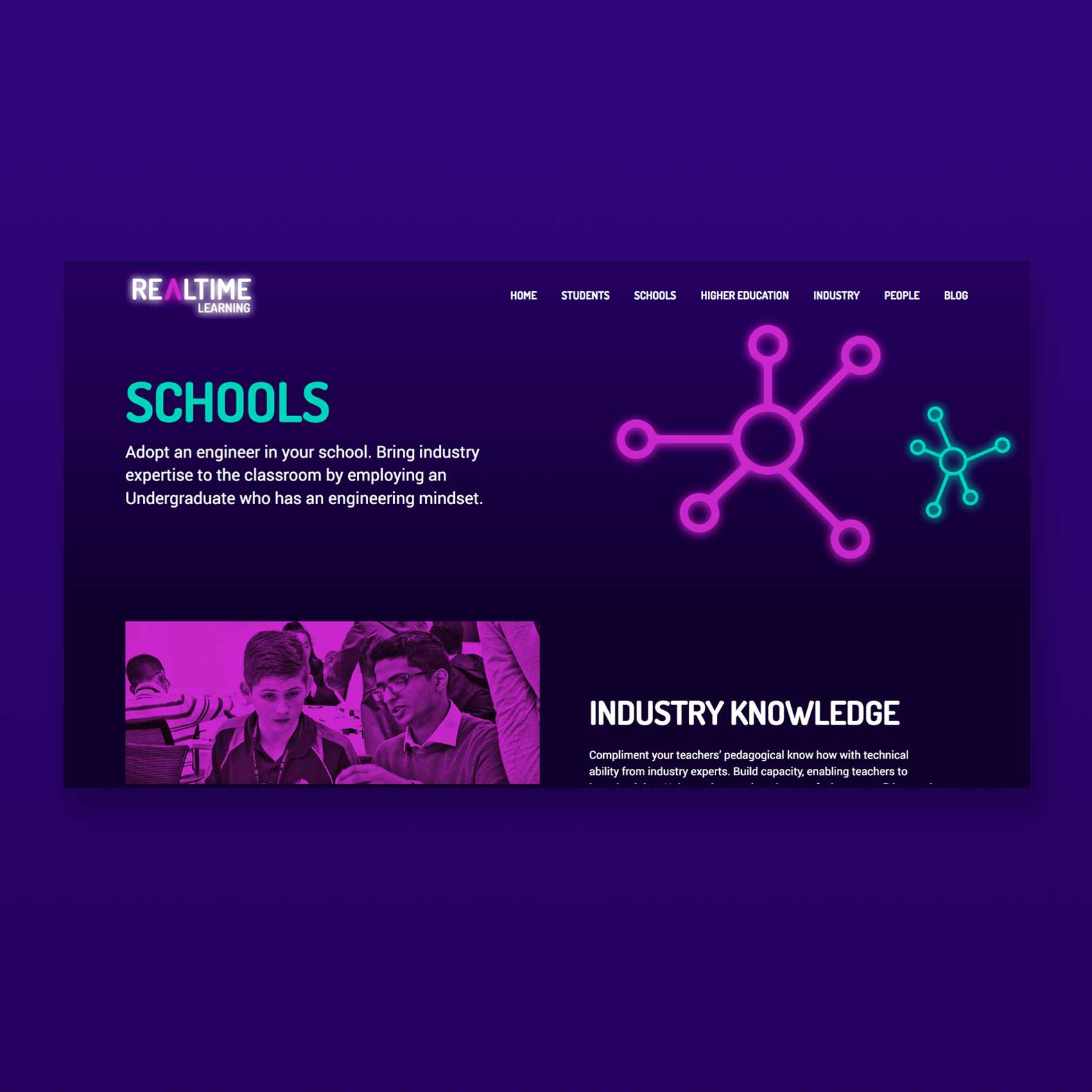 Realtime learning schools page