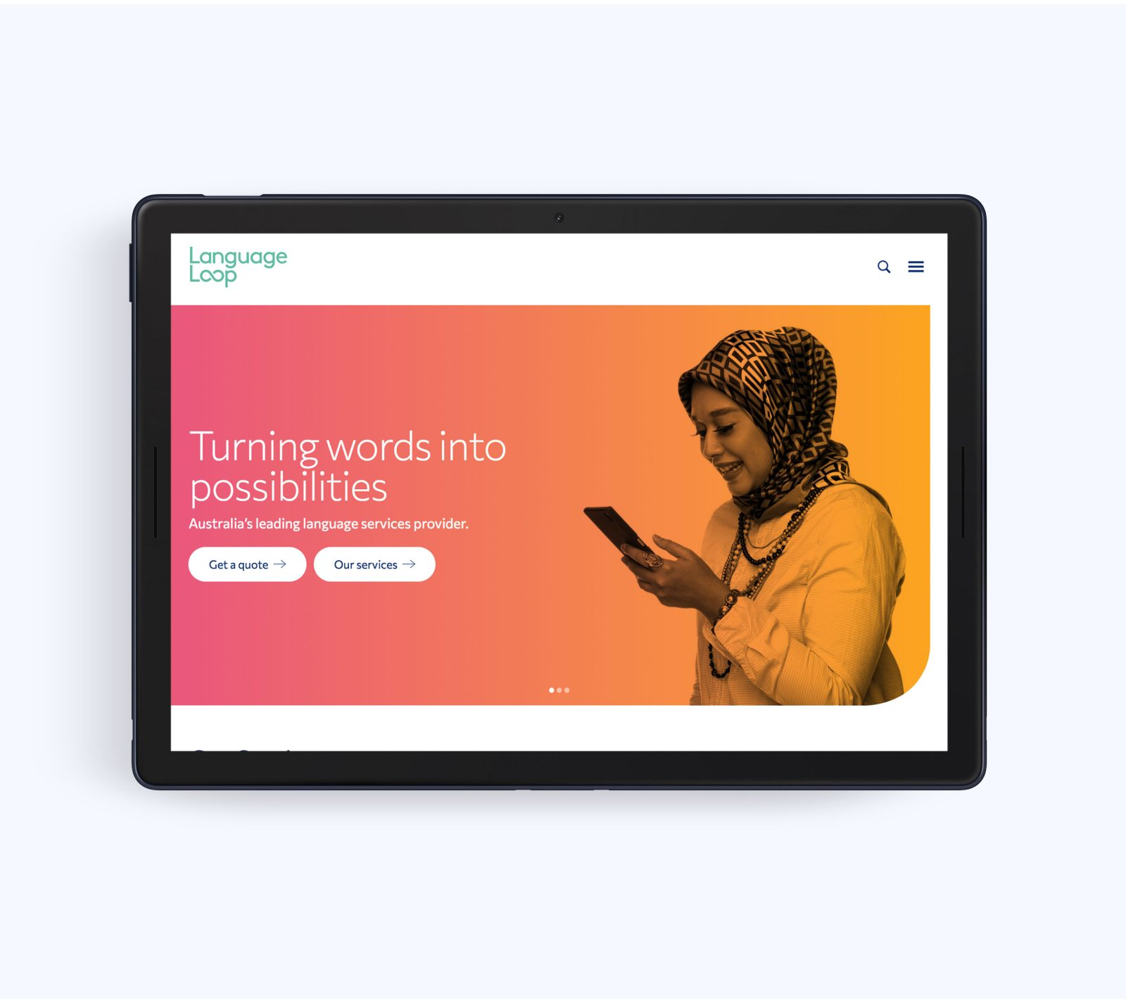 LanguageLoop website