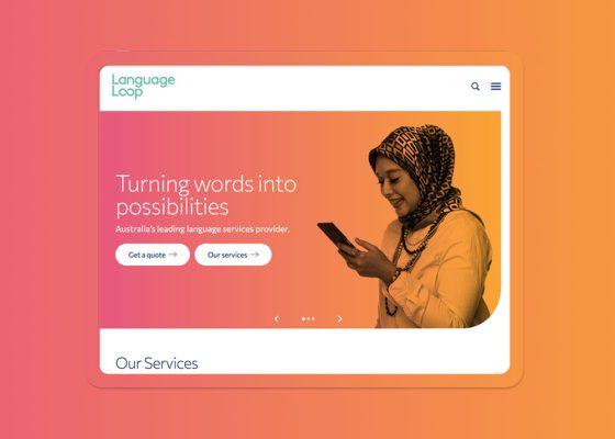 LanguageLoop website on ipad